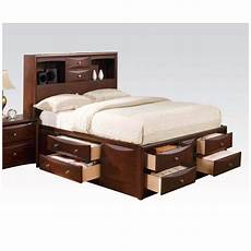 hudson casual 4 pc cal king storage bed set in brown
