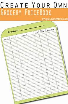 Grocery List Book How To Create Your Own Grocery Price Book Frugal Living