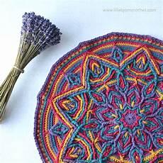 illusion mandala new overlay crochet pattern lillabj 246 rn