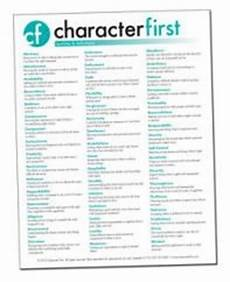 A List Of Characteristics Character First List Of High Quality Character Traits And