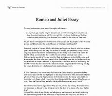 Romeo And Juliet Analysis Essay Romeo And Juliet Essay A Level English Marked By