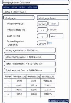 Nz Mortgage Calculator Mortgage Loan Calculator