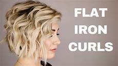 hair short how to curl with a flat iron hair