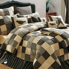 black country primitive patchwork quilt set for