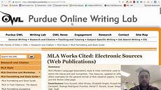 Purdue Owl Mla Source Cards And Research Cards Purdue Owl Youtube