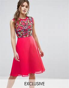 Frock And Frill Size Chart Frock And Frill Embroidered 2 In 1 Skater Dress Asos