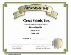 Formato Reconocimiento Empleado Del Mes Empleado Del Mes Para Imprimir Los Certificados Gratis