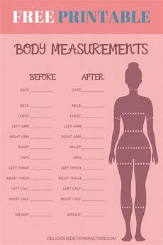 Free Printable Body Measurement Chart Printable Body Measurement Chart Delicious Determination