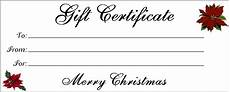 Gift Certificate Ideas For Christmas Free Printable Christmas Gift Certificates Templatekitty