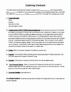 Catering Agreement Template Catering Contract Template For Ms Word Document Hub
