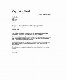 Rejection Letter Template Free 6 Sample Proposal Rejection Letter Templates In Ms