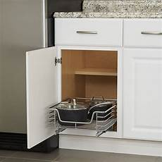 chrome sliding cabinet organizer 17 inch in pull out baskets
