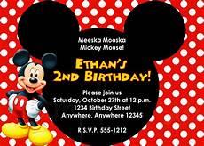 Mickey Mouse Party Invitations Free Birthday Invitation Mickey Mouse Birthday Invitations