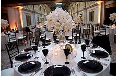 20 black and white wedding table setting 17 best ideas
