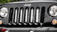 Jeep Grill With Lights Installing 2007 2017 Jeep Wrangler Jk Vertical 8 Inch Led