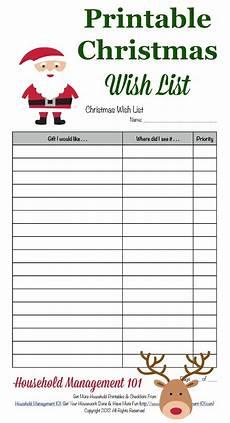 Christmas List Maker Printable Free Printable Christmas Wish List For Kids Amp Adults