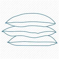 bed feather pillow sleep icon