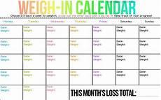 Weight Calendar Chart Weigh In Calendar Only Weigh In 1 2 Times A Week So You