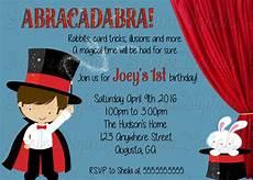 Magic Themed Birthday Invitations Little Magician Birthday Party Invitation Magic Show