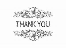thank you card template and black photo card template thank you flowers black on white