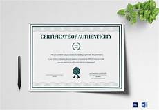Authentication Certificate Format Brand Authenticity Certificate Design Template In Psd Word