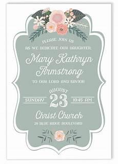Baby Dedication Invitation Templates Floral Baby Dedication Gilm Press