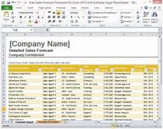 Excel Forecasting Template Free Sales Forecast Template For Excel 2013 With Editable Logo
