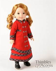 14 doll clothes thimbles and acorns carrie doll clothes pattern 14 5 inch
