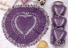 juego de toilette tejido al crochet con patrones y
