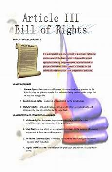 Constitutional Protections For Persons Accused Of Crime Chart Concept Of Bill Of Rights Philippines
