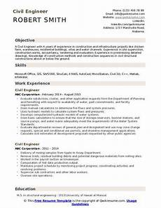 Civil Engg Resume Civil Engineer Resume Samples Qwikresume