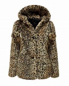 animal coats womens black faux fur jacket pom pom hooded pocket