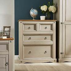 grey corona pine chest of 4 drawers two tone solid mexican