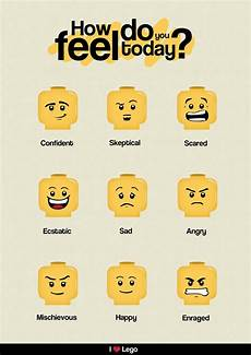 Lego Feelings Chart Lego And Other Visual Supports To Help Autistic Children