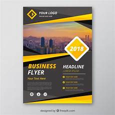 Flyer Designer Free Grey And Yellow Business Flyer Template Free Vector