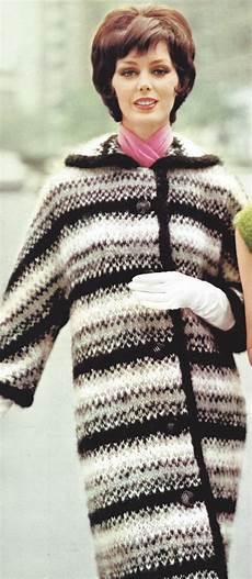 vintage knitting pattern to make mohair stripe coat