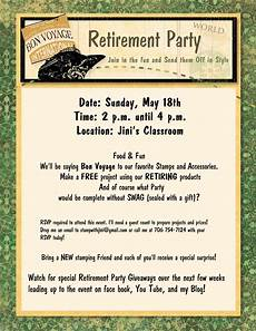 Retirement Party Flyers Retirement Party Amp Giveaways Stamp Scrap Amp Create With Me