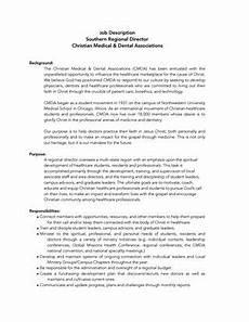 Regional Sales Director Job Description Cmda Regional Director Job Description By Bill Reichart