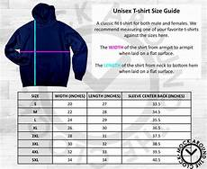 Gildan Unisex Size Chart Gildan Pullover Hoodie 18500 Size Guide Chart Table