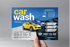 Car Wash Pictures For Flyer Car Wash Flyer Template Flyer Templates Creative Market