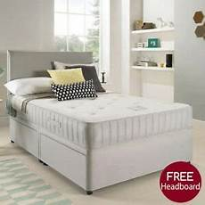 grey fabric bed divan base set with mattress drawers 3ft