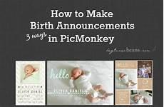 Make Your Own Birth Announcements Beginner Beans How To Design Your Own Birth Announcement