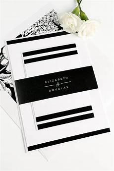 Wedding Invitations Black And White Modern Black And White Wedding Invitations Wedding