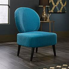Contemporary Blue Contemporary 24 Quot Oval Back Accent Chair In Pacific Blue