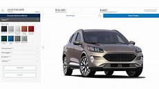 2020 Ford Escape Color Chart 2020 Ford Escape Priced From 26 080 Configurator Is Now