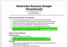 New Bartender Resume Bartender Resume Sample Amp Writing Tips Resume Companion