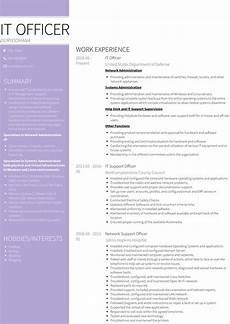Cv Or Resume Sample It Officer Resume Samples And Templates Visualcv
