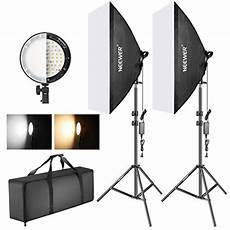 Film Light Stands Neewer Photography Bi Color Dimmable Led Softbox Lighting