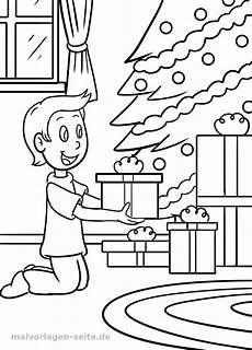 malvorlage weihnachten geschenke kostenlose ausmalbilder