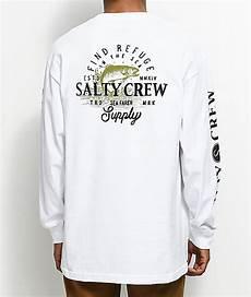 salty crew sleeve gresatek salty crew fly supply white sleeve t shirt zumiez